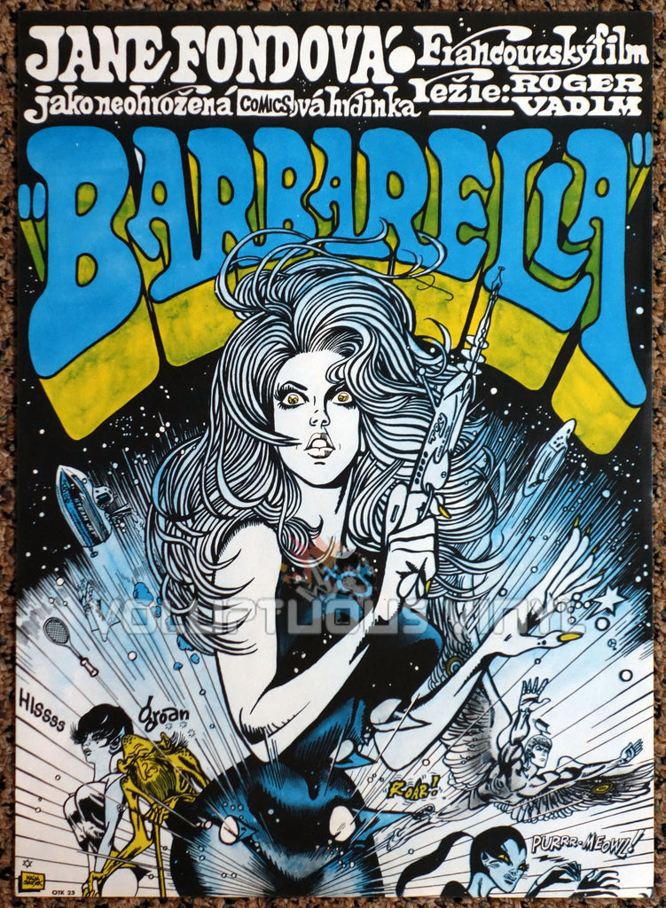 Barbarella 1971 Czech Republic Poster Sexy Sci-Fi Jane Fonda Art