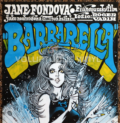 Barbarella 1971 Czech Republic Poster Sexy Sci-Fi Jane Fonda Art Close Up