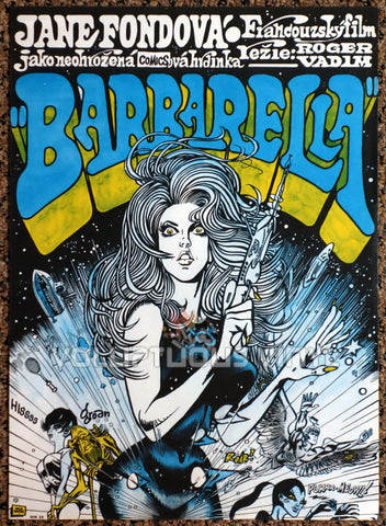Barbarella (1971) - Czech Republic - Sexy Sci-Fi Jane Fonda Art