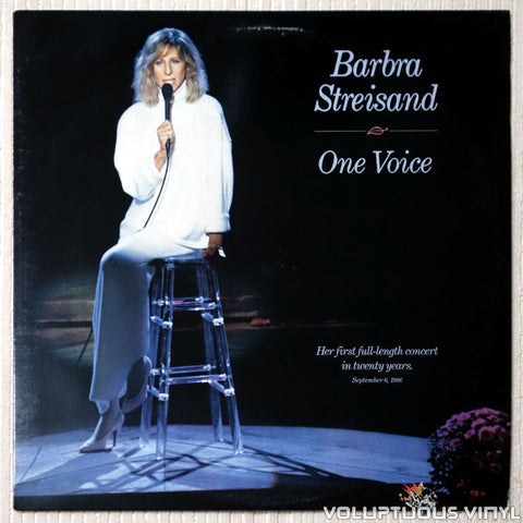 Barbra Streisand ‎– One Voice - Vinyl Record - Front Cover