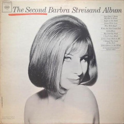 Barbra Streisand ‎– The Second Barbra Streisand Album vinyl record front cover