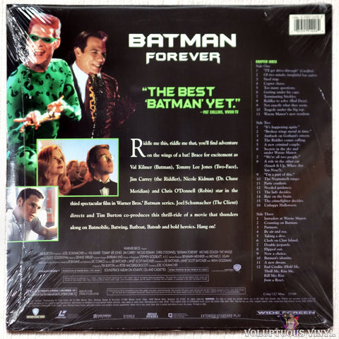 Batman Forever laserdisc back cover