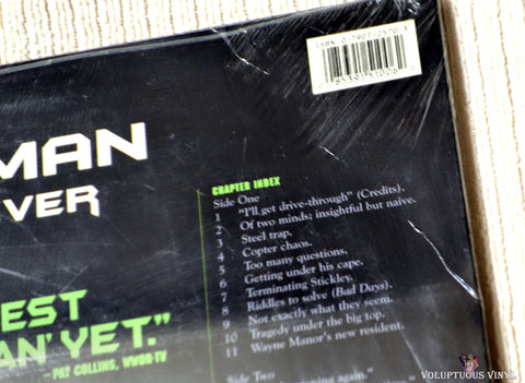 Batman Forever laserdisc back cover top right corner