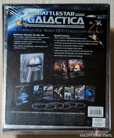 Battlestar Galactica: The Complete Epic Series DVD Back