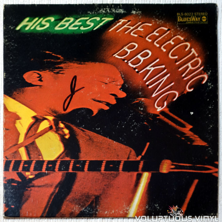 B.B. King ‎– His Best - The Electric B.B. King vinyl record front cover