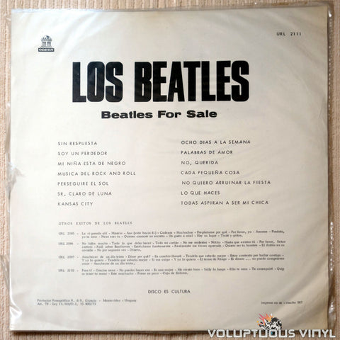 The Beatles ‎– Beatles For Sale - Vinyl Record - Back Cover