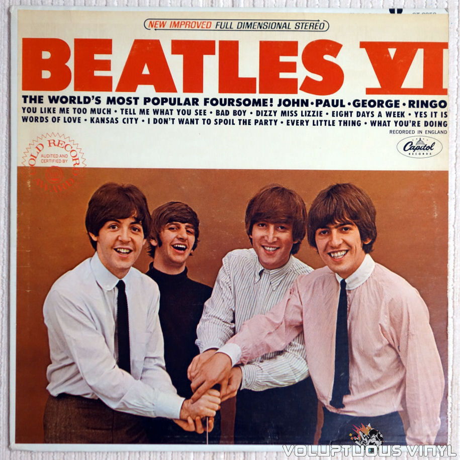 The Beatles ‎– Beatles VI - Vinyl Record - Front Cover