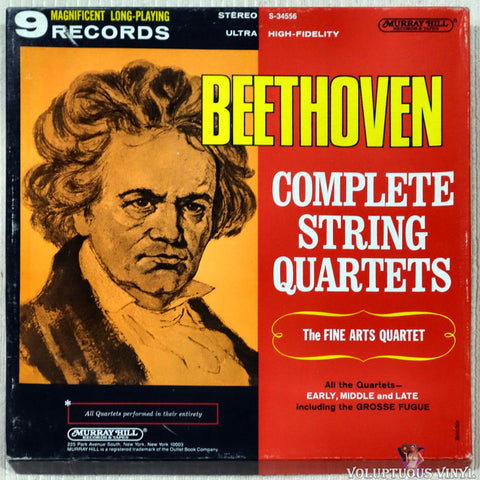 Beethoven, The Fine Arts Quartet ‎– Complete String Quartets (1968) 9xLP Box Set