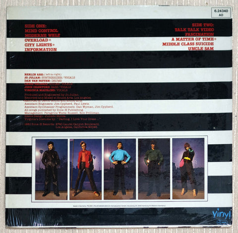 Berlin Information Rare German Pressing Vinyl Record Back Cover