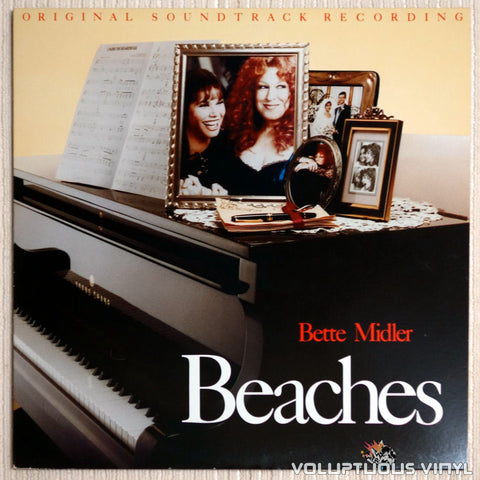 Bette Midler ‎– Beaches Soundtrack - Vinyl Record - Front Cover