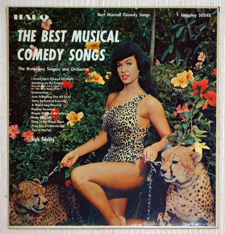 The Broadway Singers Best Musical Comedy Songs Bettie Page Cheesecake Cover Vinyl Record
