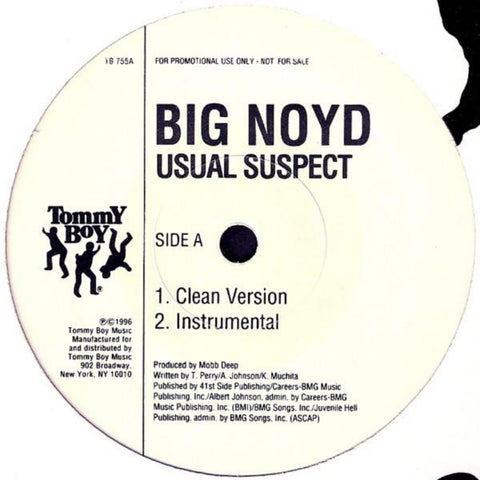 "Big Noyd ‎– Usual Suspect (1996) 12"" Single Promo"