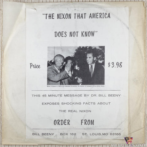 Bill Beeny‎ – The Nixon That America Does Not Know vinyl record front cover