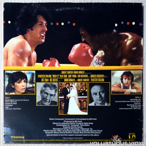 Bill Conti ‎– Rocky II - Vinyl Record - Back Cover