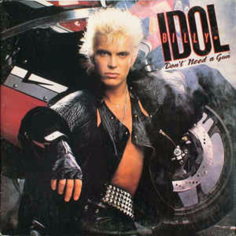 "Billy Idol ‎– Don't Need A Gun (1986) PROMO 12"" Single"