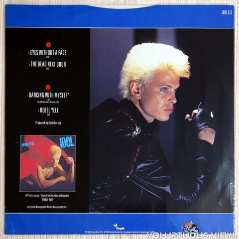 Billy Idol ‎– Eyes Without A Face - Vinyl Record - Back Cover