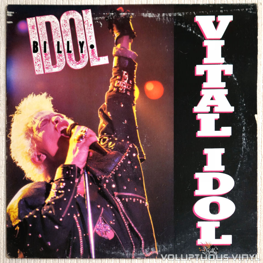Billy Idol ‎– Vital Idol - Vinyl Record - Front Cover