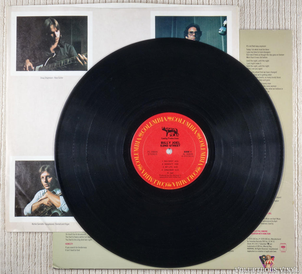 Billy Joel ‎– 52nd Street - Vinyl Record - Front Cover