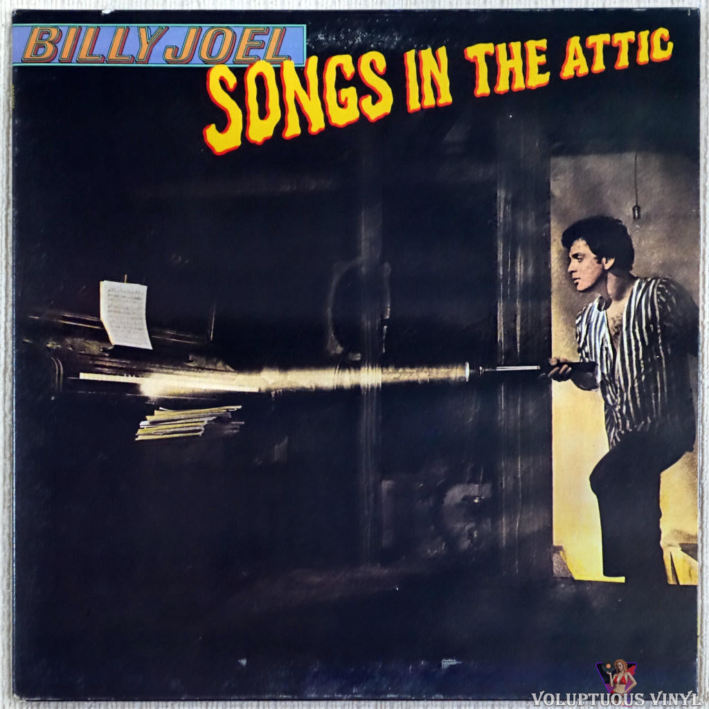 Billy Joel ‎– Songs In The Attic vinyl record front cover