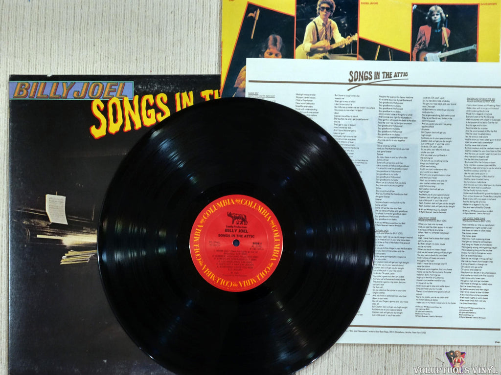 Billy Joel ‎– Songs In The Attic - Vinyl Record - Front Cover
