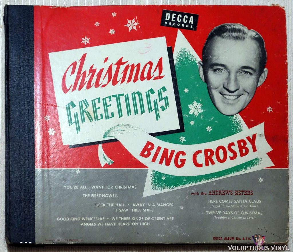 Bing Crosby ‎– Christmas Greetings shellac front cover
