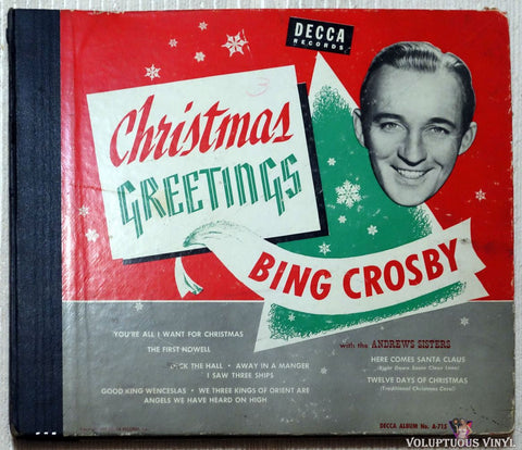 Bing Crosby ‎– Christmas Greetings (1949) 3xShellac 10""