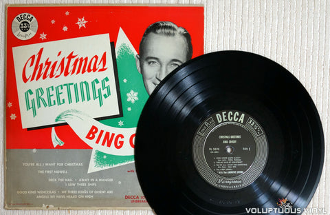 Bing Crosby ‎– Christmas Greetings - Vinyl Record