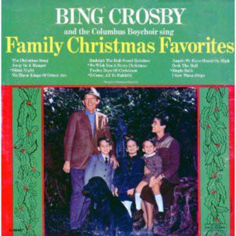 Bing Crosby And The Columbus Boychoir ‎– Sing Family Christmas Favorites vinyl record front cover