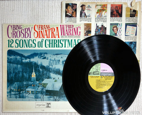 Bing Crosby, Frank Sinatra, Fred Waring And The Pennsylvanians ‎– 12 Songs Of Christmas - Vinyl Record