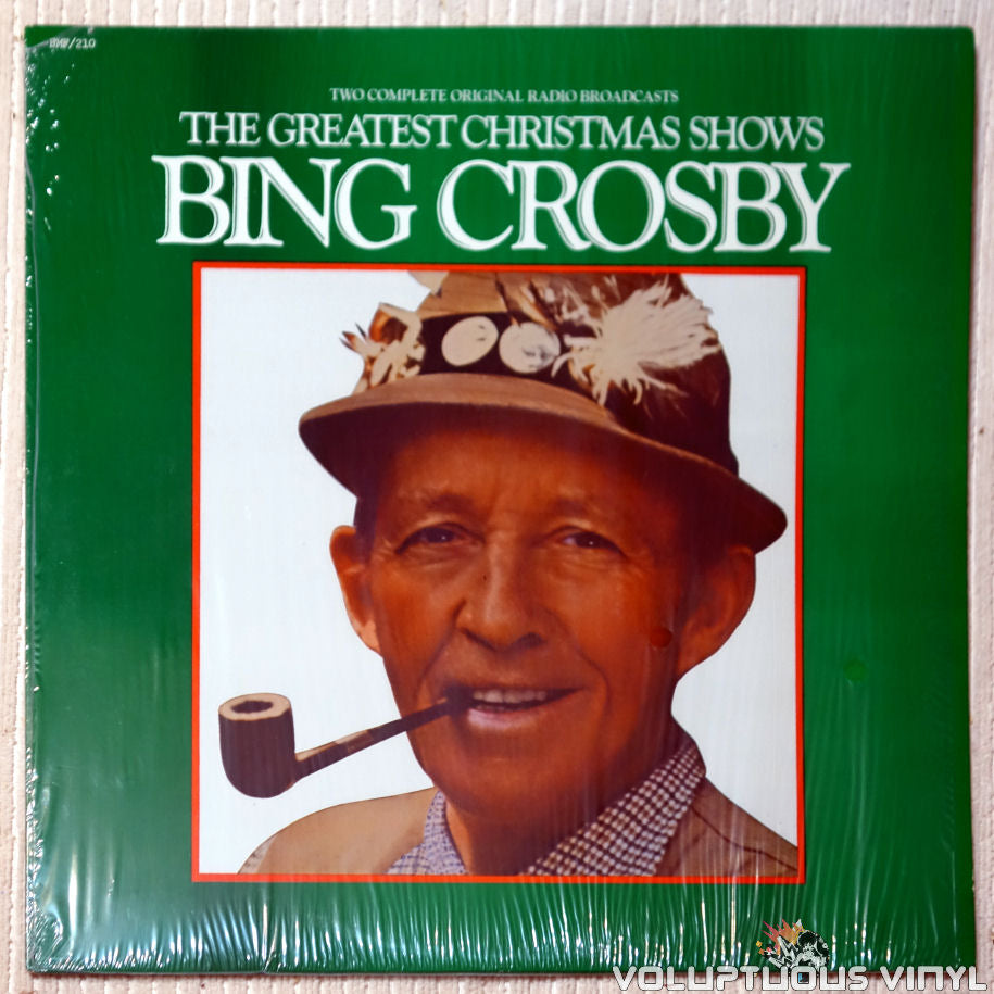 Bing Crosby ‎– The Greatest Christmas Shows vinyl record front cover