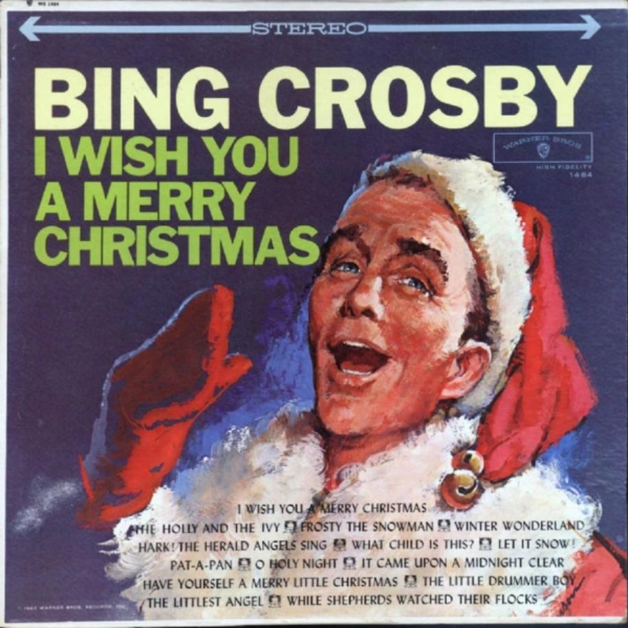 Bing Crosby ‎– I Wish You A Merry Christmas vinyl record front cover