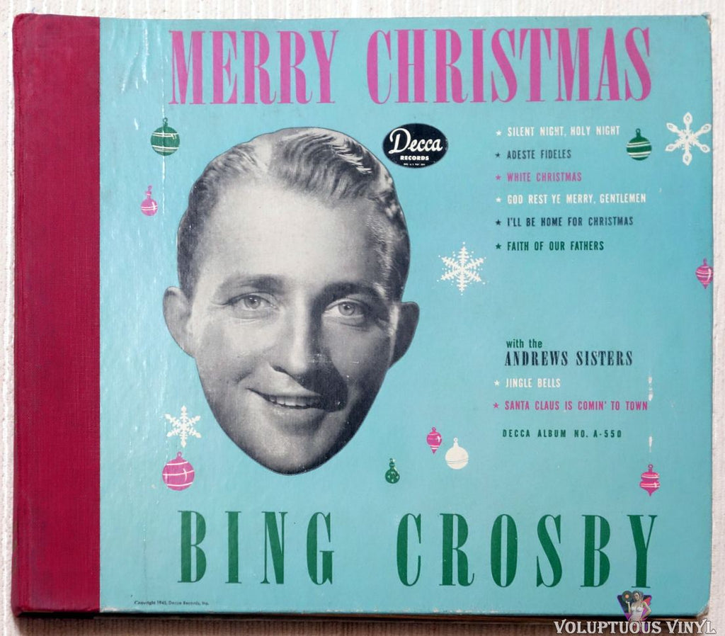 Bing Crosby ‎– Merry Christmas shellac front cover