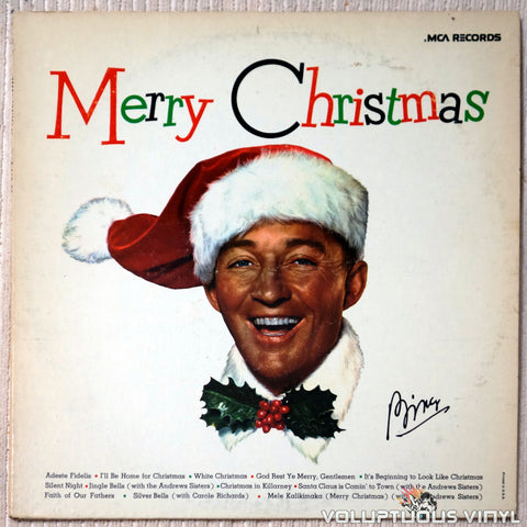 Bing Crosby ‎– Merry Christmas - Vinyl Record - Front Cover