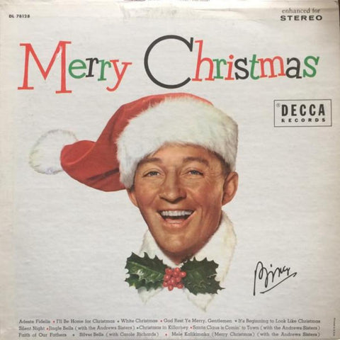 Bing Crosby ‎– Merry Christmas vinyl record front cover