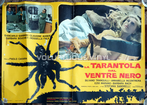 Black Belly of the Tarantula Italian movie poster Barbara Bouchet topless