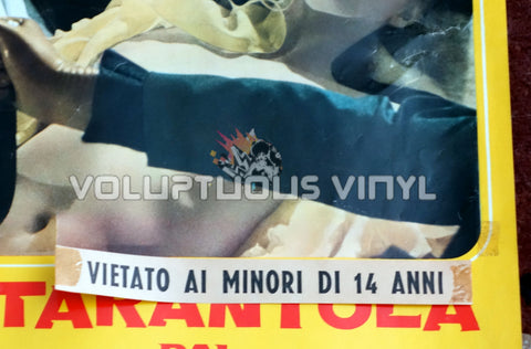 Black Belly of the Tarantula Italian movie poster snipe