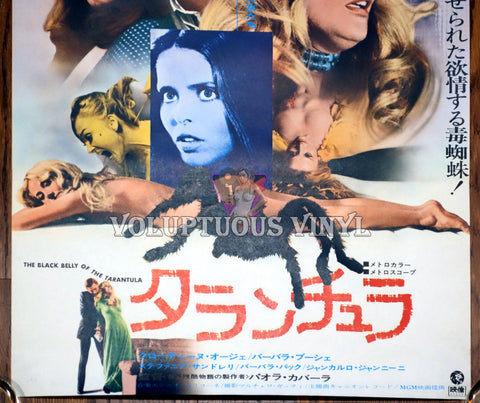 Black Belly of the Tarantula Japanese movie poster bottom half
