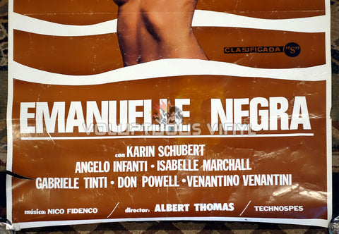 Black Emanuelle [Emanuelle negra] (1978) - Spanish 1-Sheet - Laura Gemser Nude Poster - Bottom Half