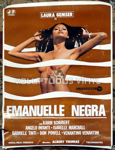 Black Emanuelle (1978) - Spanish 1-Sheet - Laura Gemser
