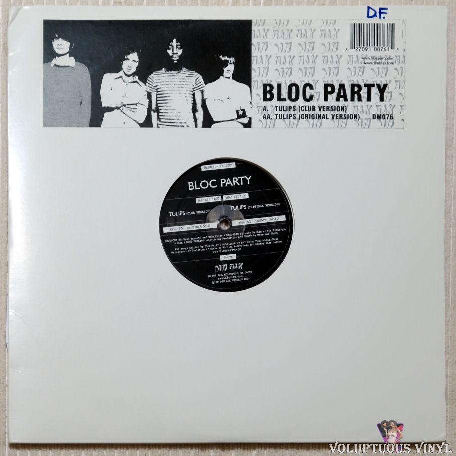 Bloc Party ‎– Tulips vinyl record front cover