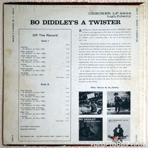 Bo Diddley ‎– Bo Diddley's A Twister - Vinyl Record - Back Cover