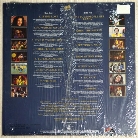 Bob Marley And The Wailers ‎– Legend (The Best Of Bob Marley And The Wailers) - Vinyl Record - Back Cover