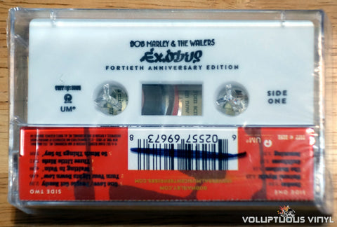 Bob Marley & The Wailers ‎– Exodus 40: The Movement Continues... cassette tape back
