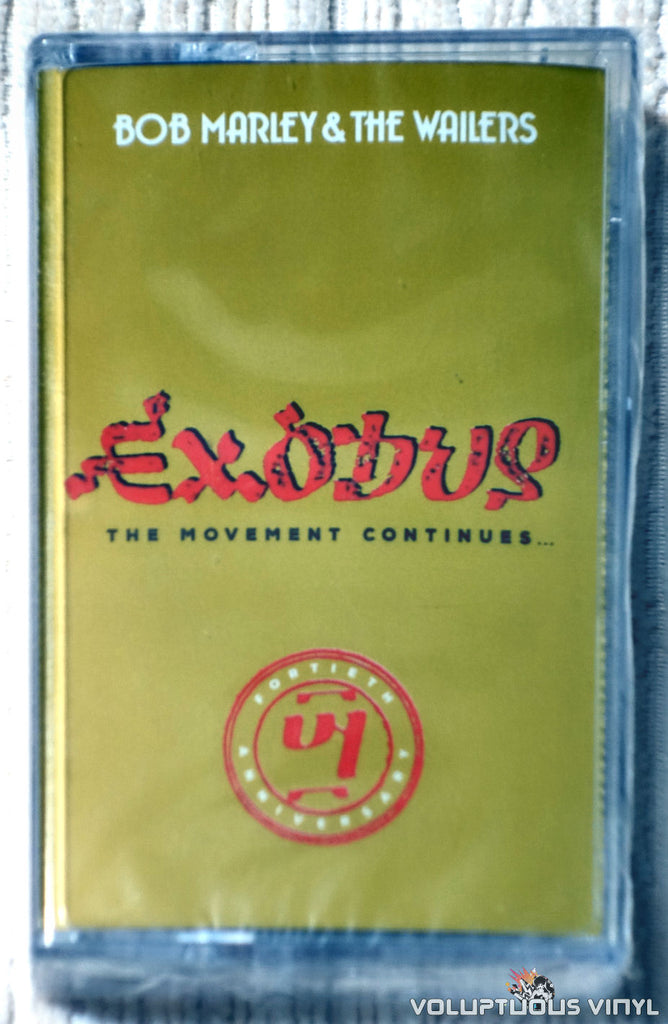 Bob Marley & The Wailers ‎– Exodus 40: The Movement Continues... cassette tape front