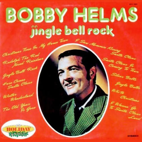 Bobby Helms ‎– Jingle Bell Rock vinyl record front cover