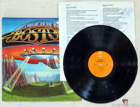 Boston ‎– Don't Look Back vinyl record