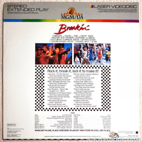Breakin' - LaserDisc - Back Cover