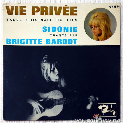 "Brigitte Bardot ‎– Bande Originale Du Film Vie Privée (1962) 7"" EP, French Press"