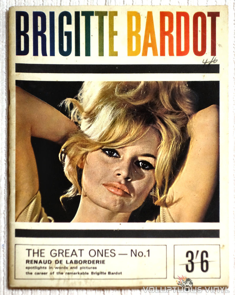 Front Cover to Rare UK Brigitte Bardot Magazine
