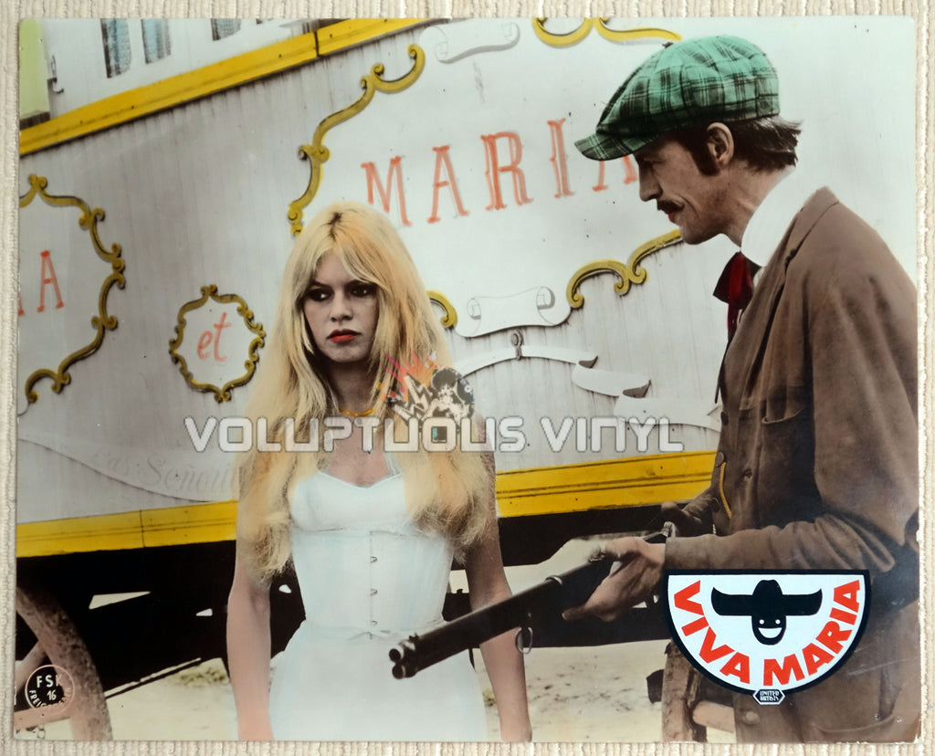 Viva Maria (1965) - German Lobby Card - Brigitte Bardot In White Bustier